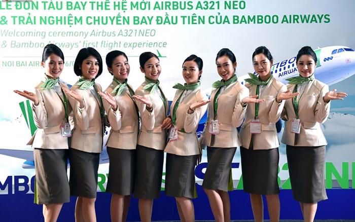 Các nữ tiếp viên xinh đẹp của Bamboo Airways