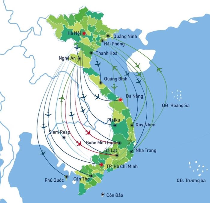 Mạng lưới đường bay của Bamboo Airways