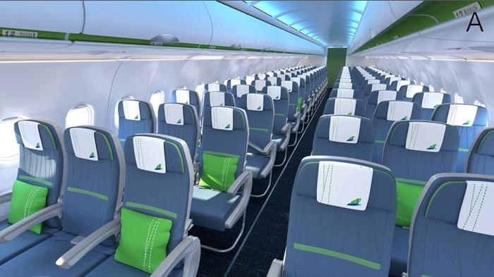 bên trong máy bay với Bamboo Airways