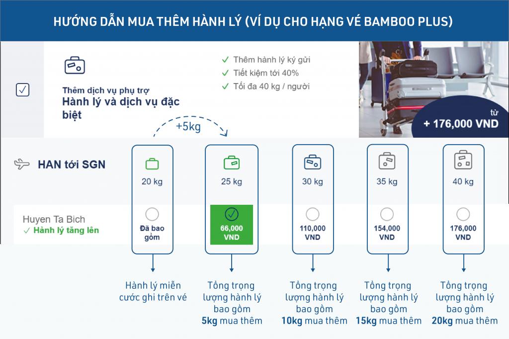 Mua thêm hành lý ký gửi của Bamboo Airways tiết kiệm đến 40%.