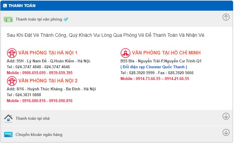 Lựa chọn hình thức thanh toán của đại lý Bamboo Airways