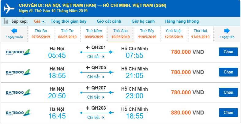 Giá vé mà đường bay bạn có thể tùy ý lựa chọn