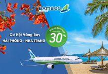 khuyến mãi giảm 30% giá vé Hải Phòng – Nha Trang
