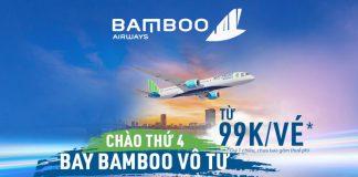 Siêu khuyến mãi Bamboo Airways vé máy bay chỉ từ 99k trong chương trình chào thứ 4