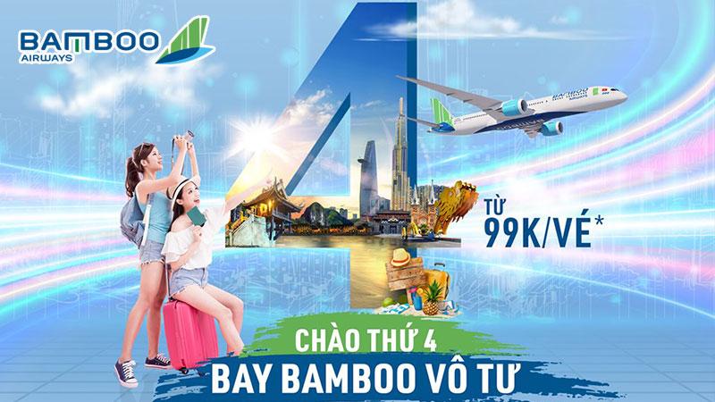 Bamboo Airways khuyến mãi vé máy bay 99k chào thứ 4