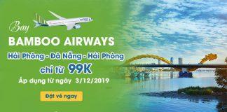 Khuyến mãi đường bay mới Hải Phòng – Đà Nẵng chỉ 99.000 VND