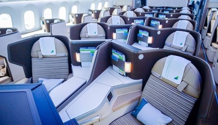 Khoang thương gia trên máy bay Boeing 787-9