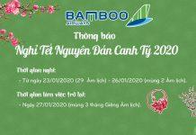 Đại lý Bamboo Airways thông báo lịch nghỉ Tết 2020
