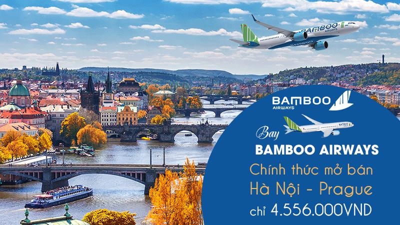 Bamboo Airways khuyến mãi đường bay mới Hà Nội – Prague chỉ 4.556.000 VND