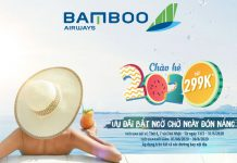 Cùng Bamboo Airways khuyến mãi chào hè 299.000 VND