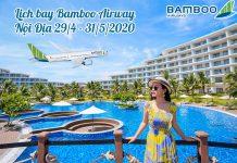 Lịch bay Bamboo Airways nội địa từ 29/4 – 31/5/2020