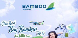 Săn khuyến mãi thứ 4 cùng Bamboo Airways bay vô tư chỉ 48.000 VND