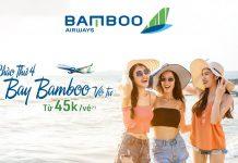 Thứ 4 Săn khuyến mãi bay vô tư cùng Bamboo Airways