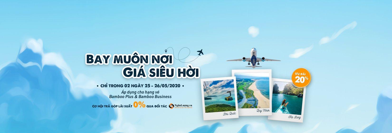 Bamboo Airways khuyến mãi giảm 20% giá vé máy bay
