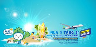 Mừng ngày gia đình Việt Nam Bamboo Airways khuyến mãi mua 1 tặng 1