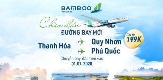 Bamboo Airways mừng đường bay mới từ Thanh hóa chỉ từ 199.000 VND