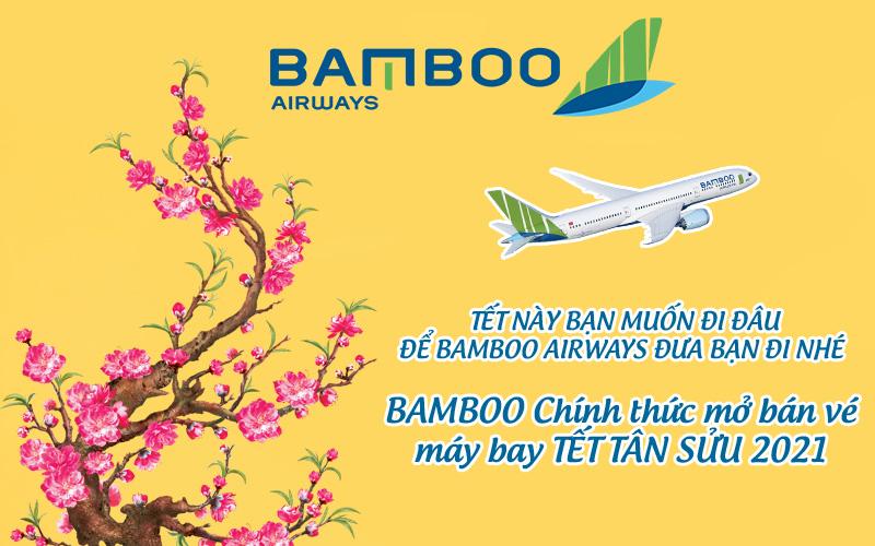 Bamboo Airways mở bán vé máy bay giai đoạn Tết 2021