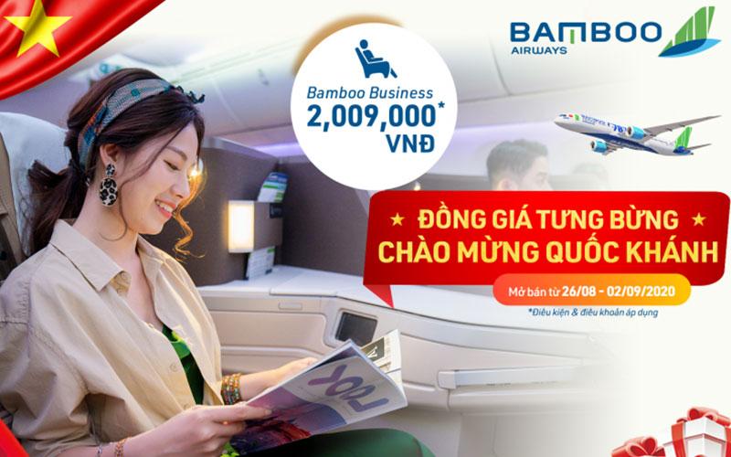 Bamboo Airways khuyến mãi mừng Quốc Khánh chỉ từ 29.000 VND