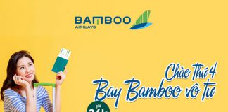 Bamboo Airways khuyến mãi vé máy bay chỉ từ 36.000 VND bay vô tư