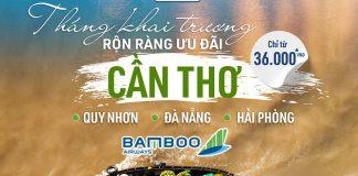 3 đường bay mới Bamboo Airways khuyến mãi chỉ từ 36.000 VND