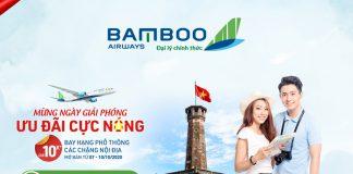 Bamboo Airways khuyến mãi mừng giải phóng Thủ đô đồng giá 10.000 VND