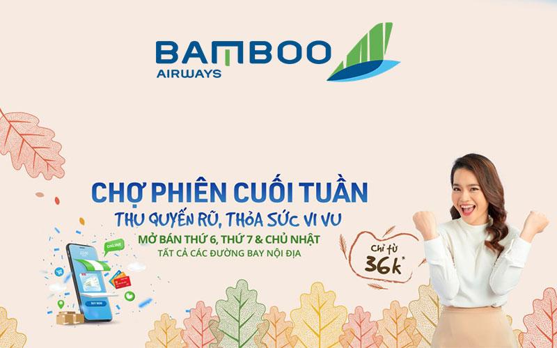 Giá vé khuyến mãi chợ phiên Bamboo Airways