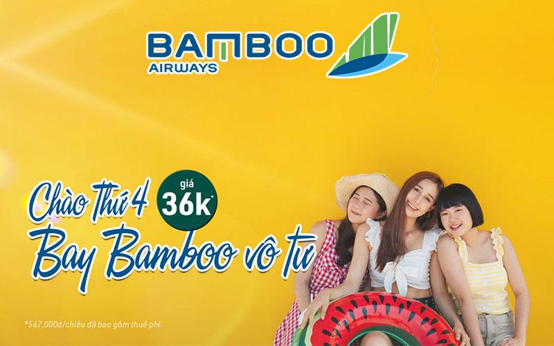 Bamboo Airways khuyến mãi chào thứ 4 chỉ từ 36.000 VND