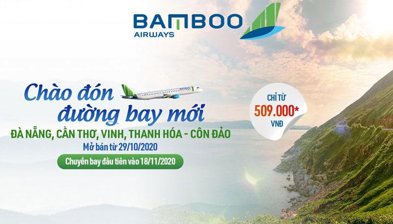 Bamboo Airways mở bán vé máy bay đi Côn Đảo khuyến mãi chỉ từ 509.000 VND