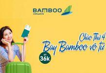Bay vô tư chỉ từ 36.000 VND khuyến mãi từ Bamboo Airways