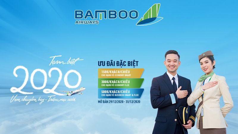 Khuyến mãi tạm biệt năm 2020 Bamboo Airways chỉ tử 150.000 VND