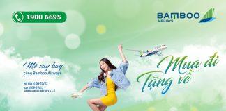 Khuyến mãi Bamboo Airways mua chiều đi tặng vé chiều về bay