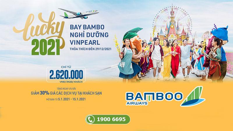 Combo khuyến mãi bay Bamboo Airways nghỉ dưỡng Vinpearl chỉ từ 2.620.000 VND