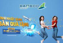 Bamboo Airways khuyến mãi mừng sinh nhật website đồng giá 21.000 VND