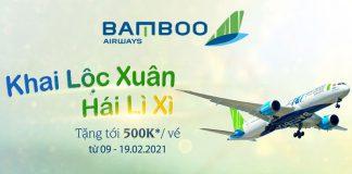 Khai lộc xuân cùng Bamboo Airways vé máy bay giảm đến 500.000 VND