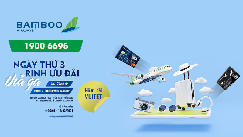 Khuyến mãi Bamboo Airways thứ 3 rinh ưu đãi thả ga