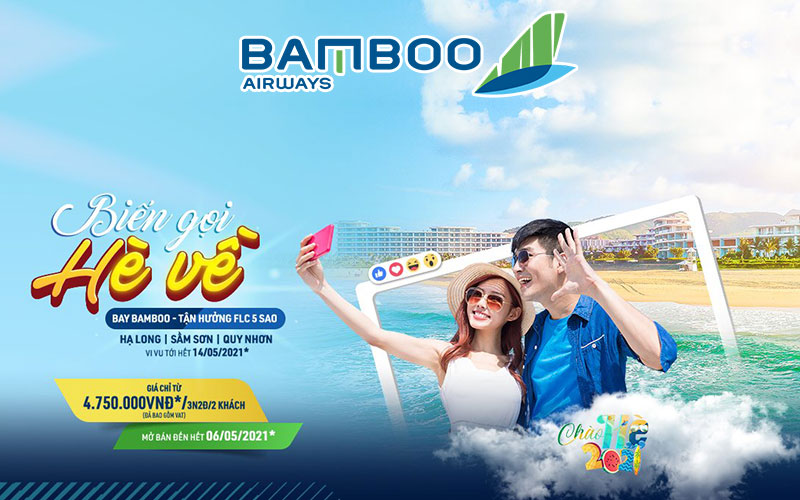 Combo bay Bamboo Airways tận hưởng FLC 5 sao chỉ từ 4.750.000 VND