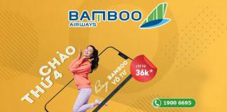 Bamboo Airways chào thứ 4 bay vô tư khuyến mãi chỉ 36.000 VND
