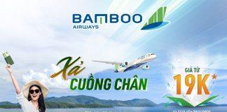 Bamboo Airways khuyến mãi xả cuồng chân chỉ từ 19k