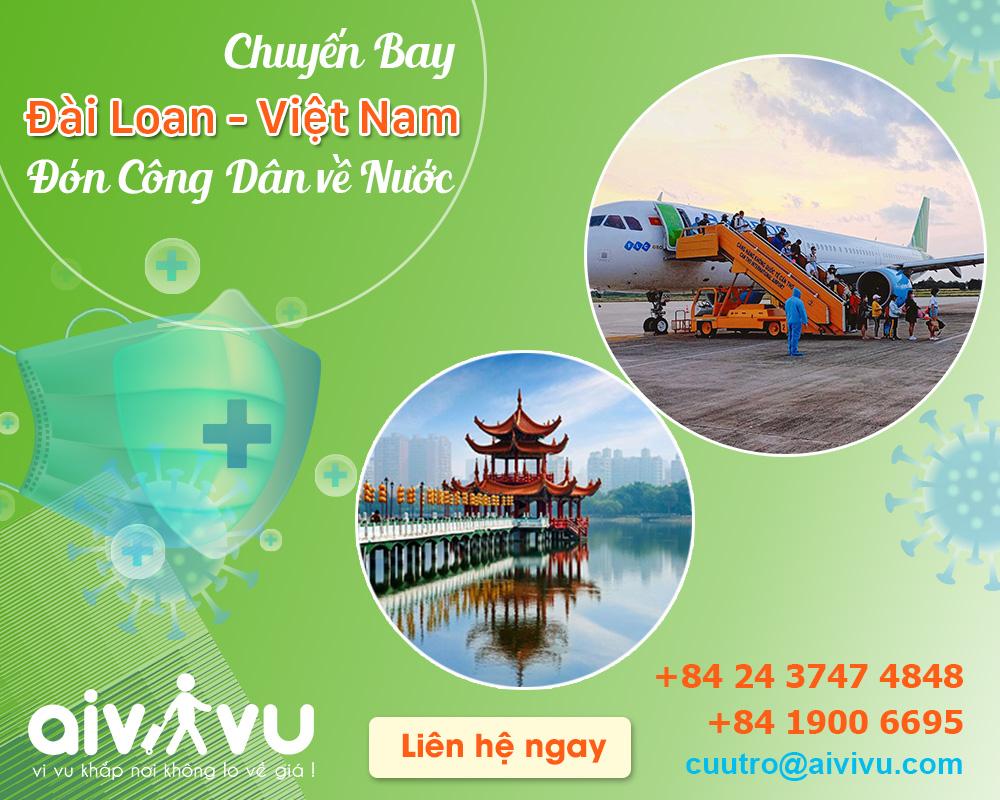 Vé máy bay từ Đài Loan về Việt Nam