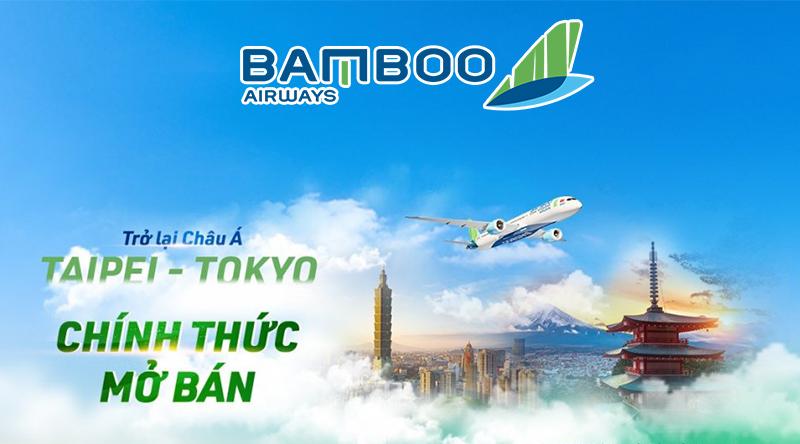 Bamboo Airways chính thức mở bán vé máy bay Đài Bắc, Tokyo