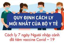 Việt Nam sẽ cách ly 7 ngày người nhập cảnh đã tiêm vaccine Covid – 19