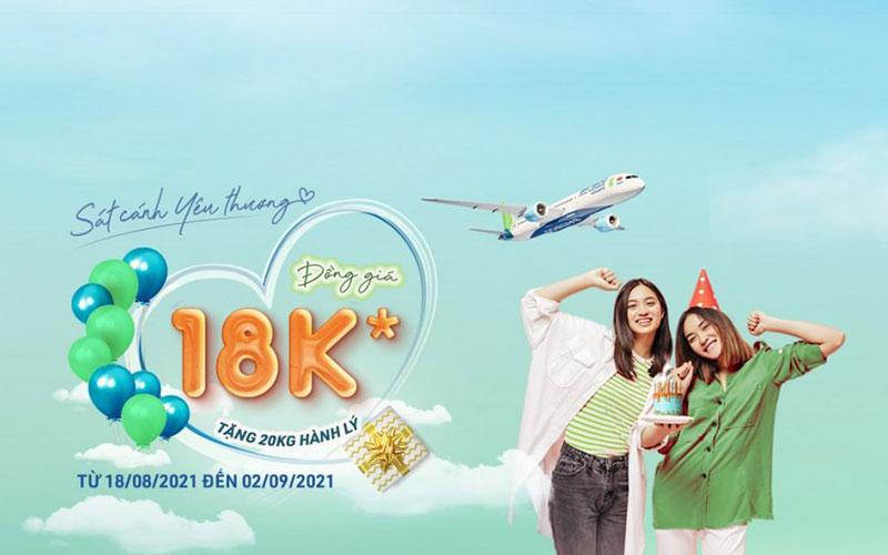Đồng giá 18.000 VND khuyến mãi từ Bamboo Airways