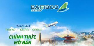Bamboo Airways chính thức mở bán vé máy bay Tokyo, Seoul, Đài Bắc