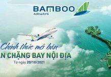 Lịch bay nội địa Bamboo Airways từ ngày 20/10/2021