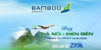 Bay Hà Nội – Điện Biên Bamboo Airways khuyến mãi chỉ 299.000 VND